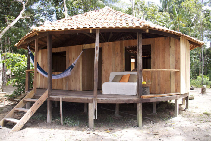 Amazon Trip EcoTourism-accomodation-forest-wooden bungalow