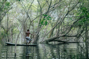 Amazon Ecotourism Trip-traditional fishing-river-amazon forest
