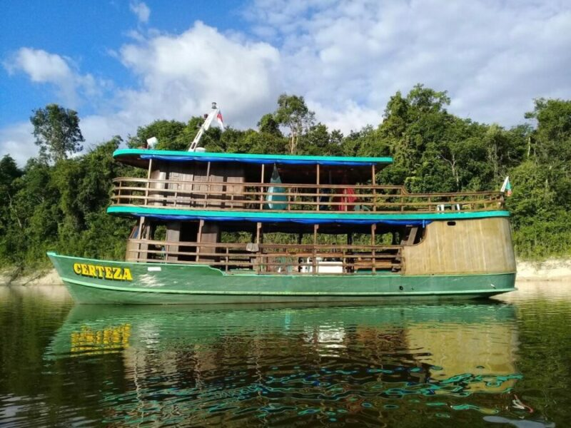 Amazon Trip Ecotourism-boat-river-amazon forest