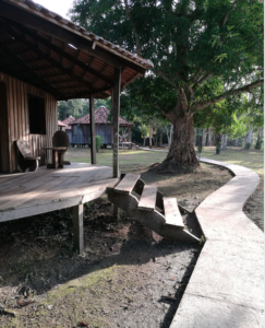 wooden bungalow-ecolodge-amazon forest
