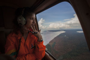 Emanuela Evangelista-helicopter-river-amazon forest